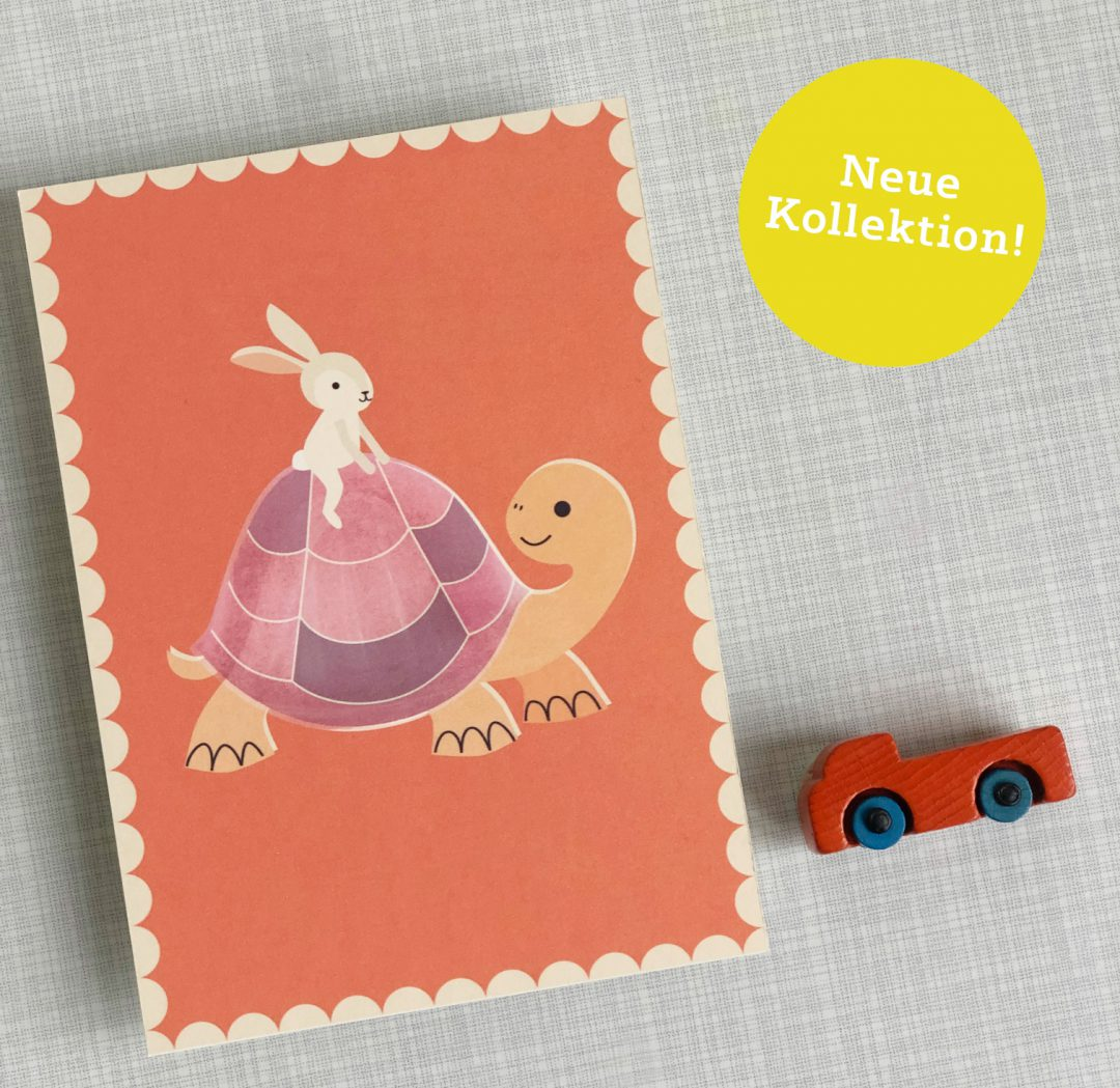 Monimari Tanja Angermeier Postkarte Hase Schildköte