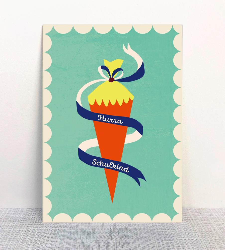 Monimari Postkarte Ökodruck Blauer Engel Papier